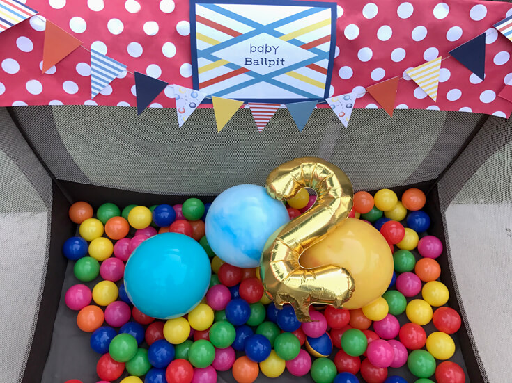 Have a Ball Party Reveal | Halfpint Design - Baby ballpit, ball pit balls, 2nd birthday. halfpintpartydesign.com