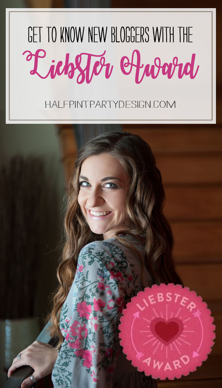 Liebster Award Nominee - Bri at Halfpint Design - get to know new bloggers that you need to follow
