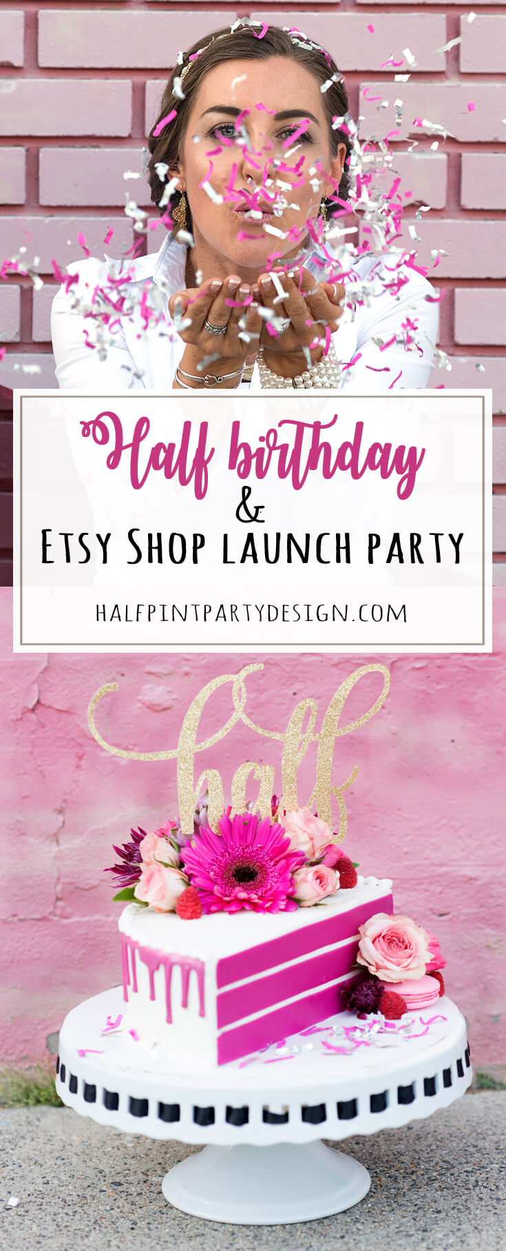Halfpint Design celebrates a half birthday with the launching of a new Halfpint Party Design Etsy Shop