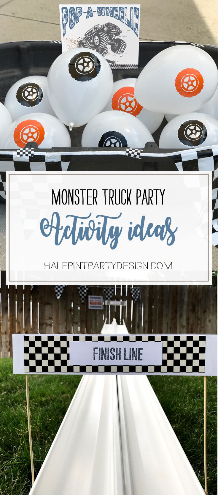 Monster Truck Party Activity Ideas - Halfpint Party Design