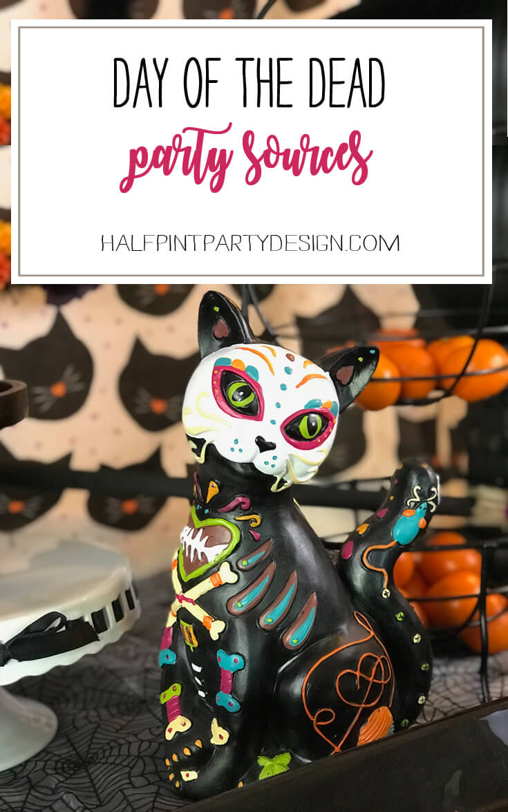 Day of the Dead is a new favorite of mine! Having a party and here are all the resources I loved! Dia de los Muertos Party Resources   Halfpint Design - Halloween party, party decorations, party clothes