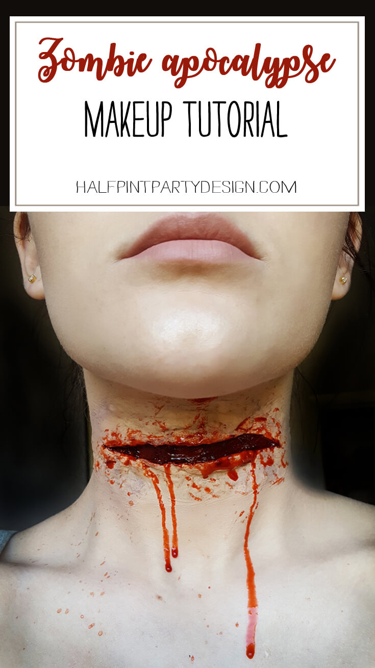 I may be the only person in the country that didn't tune in to the season premier of The Walking Dead. Since you all love it, here's how to make gory wounds with silicon. Zombie Apocalypse Makeup Tutorial from Amazing Grace Makeup featured on Halfpint Design - Halloween costume, halloween makeup, halloween party ideas, The Walking Dead