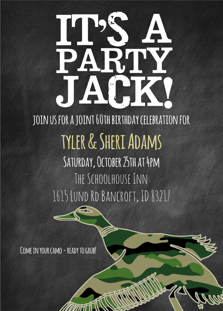 Hunting Party Invitations | Hunting Party Themed Birthday Halfpint Party Design