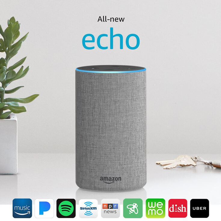 "Have a difficult man in your life making gift buying a headache? Why not give him a ""smart house"" with Amazon's voice activated echo speaker system? For more great ideas check out the Ultimate Gift Guide for the Man who has Everything at Halfpint Design. Christmas gift ideas, men's birthday gift ideas."
