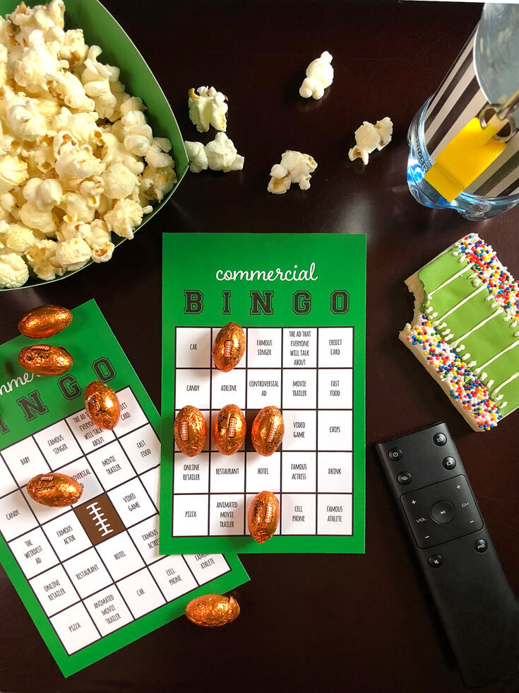 Ready for the BIG GAME? This Football party plan is now available on Enjoius. Host a no sweat football party with commercial bingo to everyone occupied during the time outs. Complete the plan with simple set up instructions, printables, and everything you need for the perfect super bowl party! Designed by Halfpint Design. Football birthday.