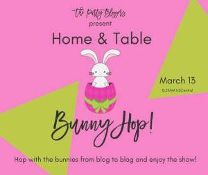 "Promotional graphic for the party bloggers ""bunny hop"""