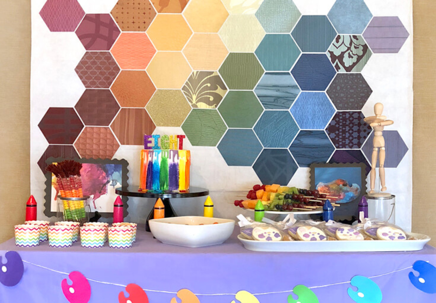 FB Food table square-Party Like Picasso-Halfpintpartydesign.com-party ideas