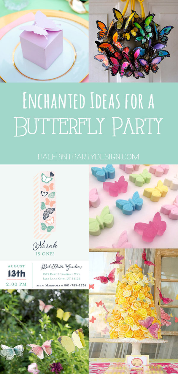 Pinterest collage for an Enchanted Butterfly Party
