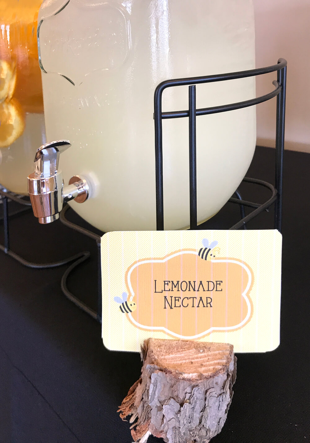 lemonade nectar stand for sweet as can bee baby shower