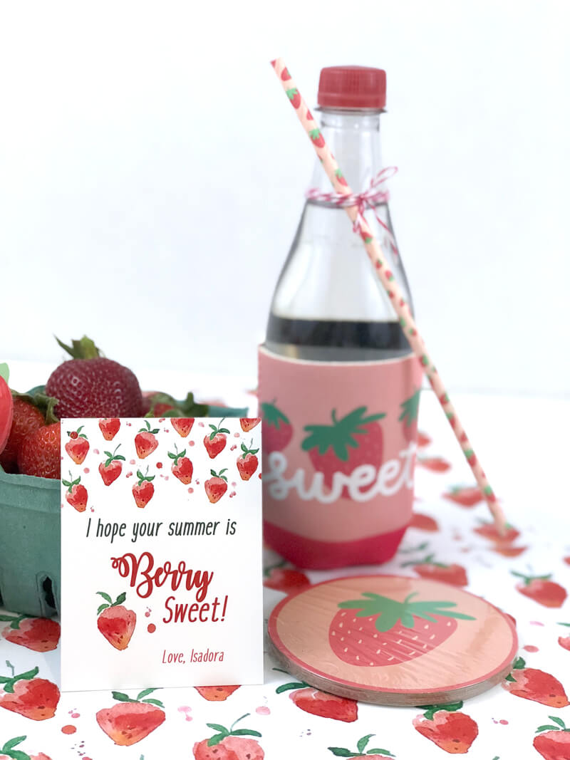 Have a Berry Sweet Summer Teacher Gift basket with all things strawberry!