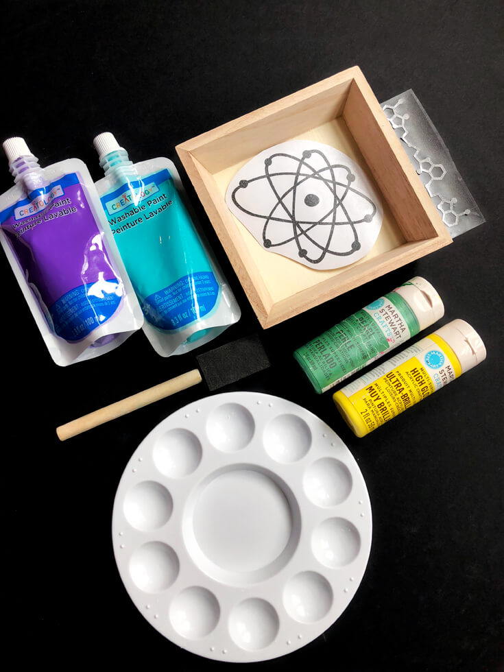 Personalized specimen trays for mad science party details