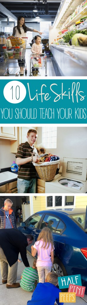 10 Life Skills You Should Teach Your Kids. Life Skills to teach your Kids, Kid Stuff, Life Hacks, Life Skills, Parenting, Parenting Tips. #kidstuff #parenting #parentinghacks #kids
