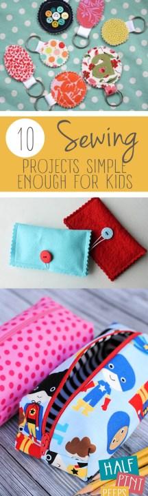 10 Sewing Projects Simple Enough For Kids| Sewing Projects for Kids, Projects for Kids, Sewing Hacks, Sewing Projects, Fun Sewing Projects, Activities for Kids, Popular Pin. #kidstuff #craftsforkids #kidscrafts #DIYcrafts #easyDIY #simpleDIY