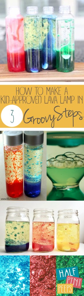 DIY Lava Lamp, Homemade Lava Lamp, Lava Lamps for Kids, Make Your Own Lava Lamp, Crafts for Kids, Craft Projects for Kids, Popular Pin