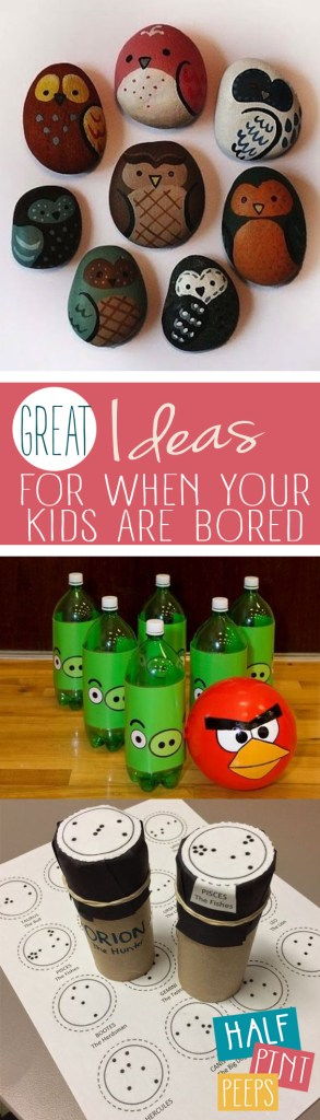 "Great Ideas for When Your Kids Are ""Bored""