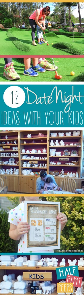 12 Date Night Ideas With Your Kids| Date Night Ideas, Date Nights With Kids, Kid Stuff, Kids Date Night #DateNightIdeas #KidsDateNight #DateNight