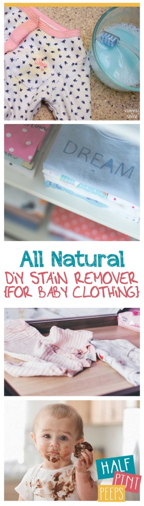 All Natural DIY Stain Remover {For Baby Clothing}| Stain Remover, Baby Stain Remover, Stain Remover Hacks, DIY Stain Remover, Baby Clothes #DIYStainRemover #BabyClothes