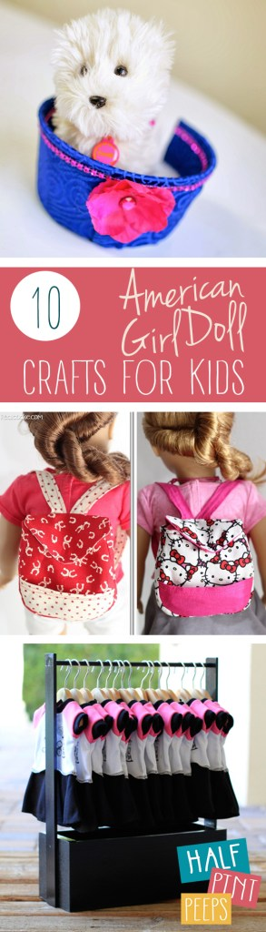 10 American Girl Doll Crafts for Kids| American Girl Doll Crafts, Crafts for Dolls, Crafts for Kids, American Girl Doll DIYs, DIY American Girl Doll, DIY Crafts, Crafts, Easy Crafts #AmericanGirl #Crafts