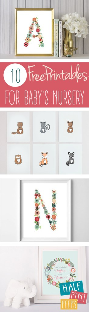 10 Free Printables for Baby's Nursery| Baby Nursery, DIY Baby Nursery, Printables, Free Printables, Printables for Kids, Kid Stuff, Nursery Decor, Baby Nursery Decor Ideas, Wall Hangings, Popular Pin #FreePrintables #Nursery