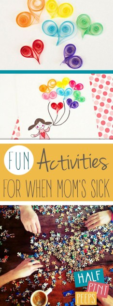 Fun Activities for When Mom's Sick| Activities for Kids, Kids Activities, Kid Stuff, DIY Kids, Fun Stuff for Kids, DIYs for Kids, #Kids #KidStuff #ActivitesforKids