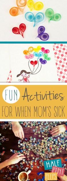 Fun Activities for When Mom's Sick| Activities for Kids, Kids Activities, Kid Stuff, DIY Kids, Fun Stuff for Kids, DIYs for Kids, #Kids #KidStuff #ActivitesforKids