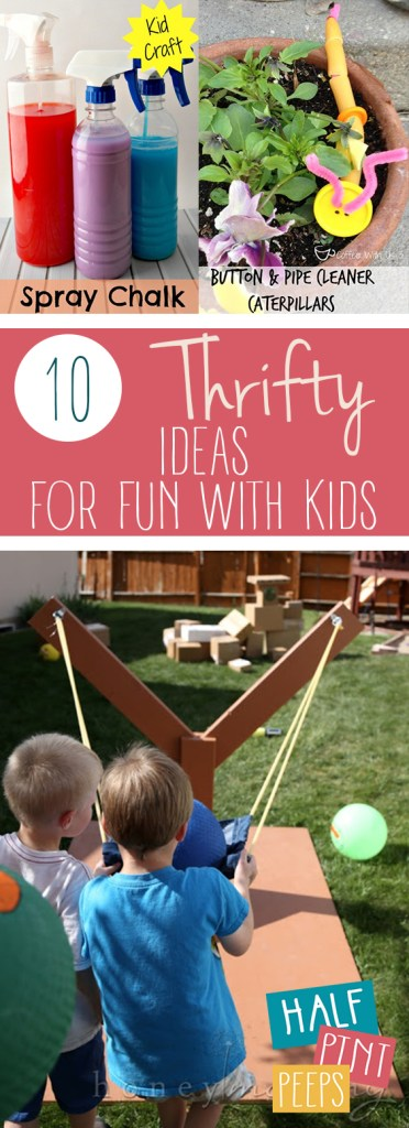 10 Thrifty Ideas for Fun with Kids| Fun With Kids, Fun Activities for Kids, Cheap Activities for Kids, Frugal, Frugal Living, Frugal Living Tips and Tricks, DIY Frugal Living, Kid Stuff, popular Pin #FrugalLiving #Kids #KidStuff