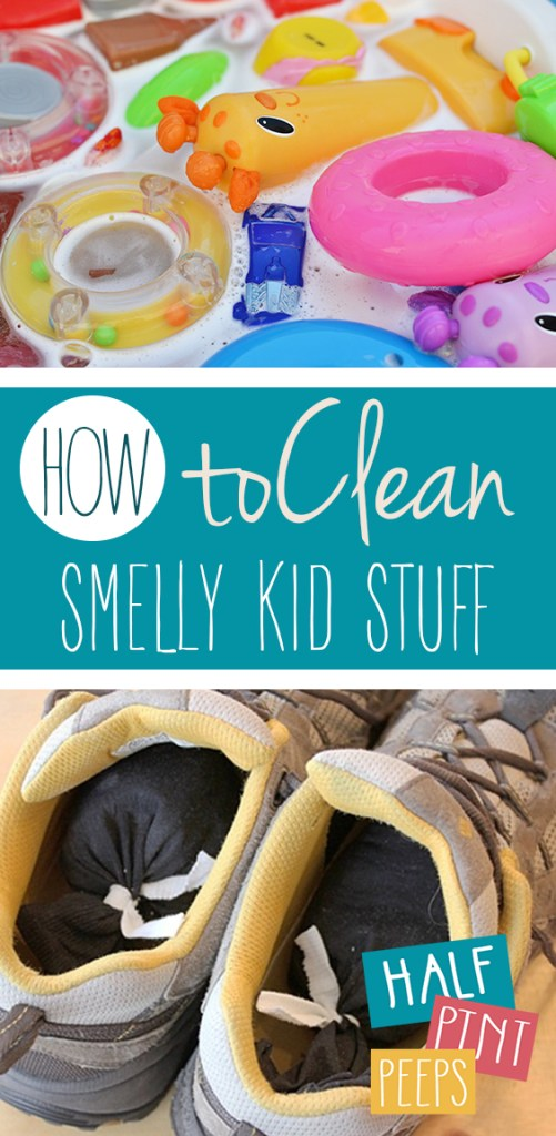 How to Clean Smelly Kid Stuff| Kid Stuff, Smell Remedies, Easy Smell Remedies, Cleaning Hacks, Cleaning Tips, Home Cleaning, Home Cleaning Hacks