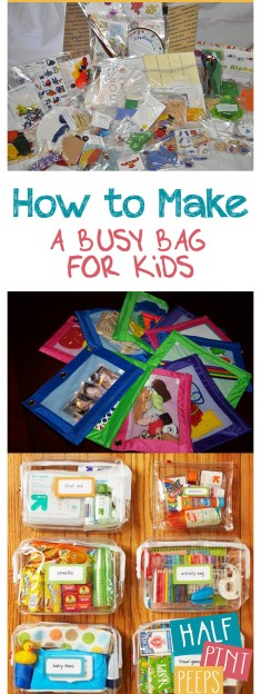 "How to Make a ""Busy Bag"" for Kids