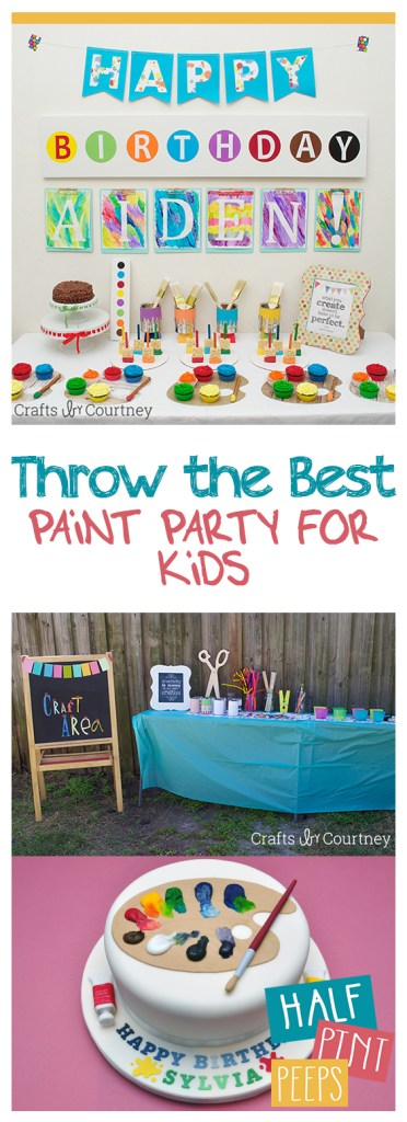 Throw the Best Paint Party for Kids| Kid Stuff, Party for Kids, Birthday Party for Kids, Kids Birthday Party for Kids, Birthday Party Ideas,  Birthday Party Ideas for Kids