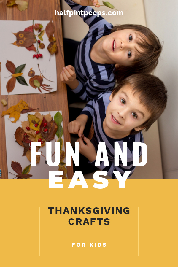 Thanksgiving is a great holiday for kids crafts. Kids love to make crafts and we have some easy ideas for Thanksgiving crafts that the kids will gobble up. Ideas with paint or for school, you can't go wrong with these suggestions. Help the kids enjoy the holiday with a little craft time. #thanksgivingkidscrafts #holidaycraftsforkids