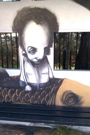Boy in Fish Boat Graffiti