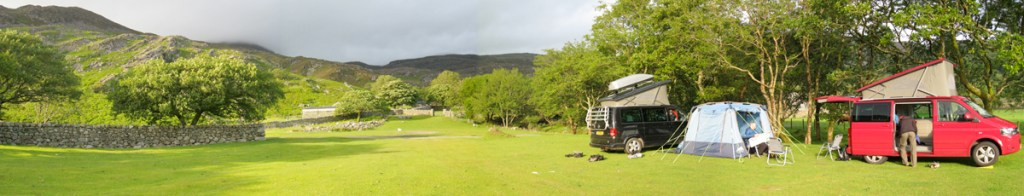Cym Bychan campsite - - stitched image