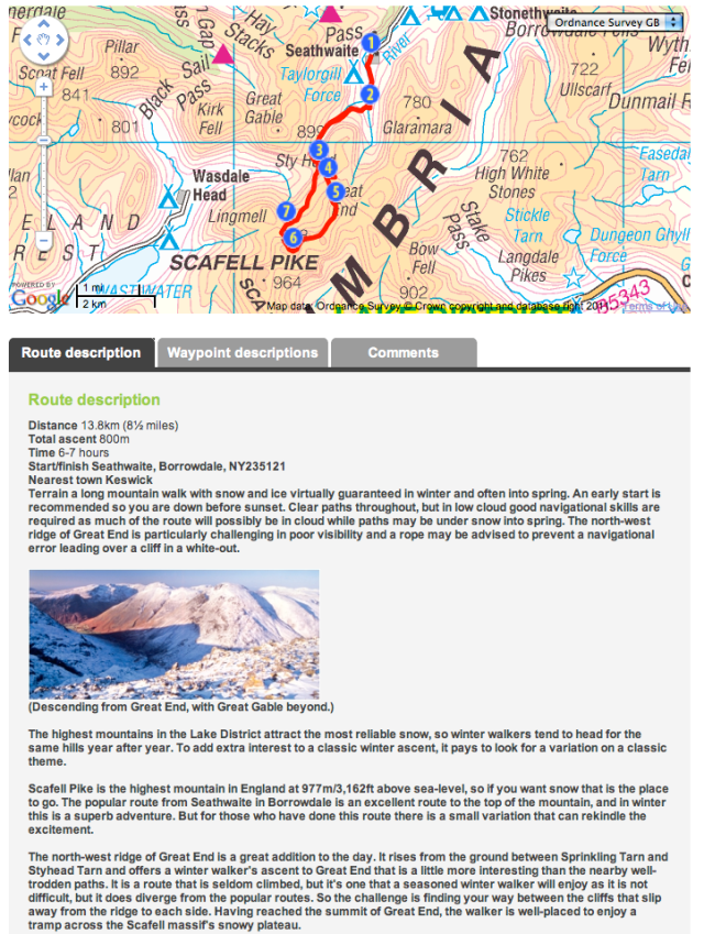 Scafell Pike route from Trail magazine