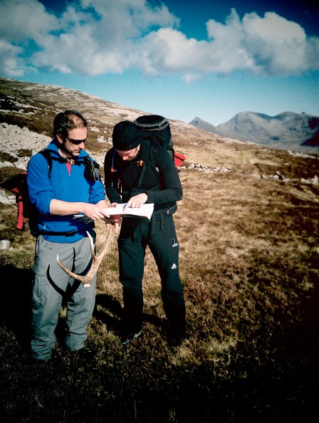 Map reading and antler finding on Rum