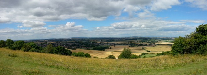 Looking down to Chinnor from Chinnor Hill Barrows