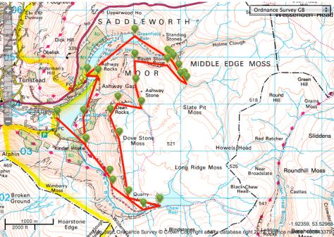 Dovetone and Chew vally route from viewranger website