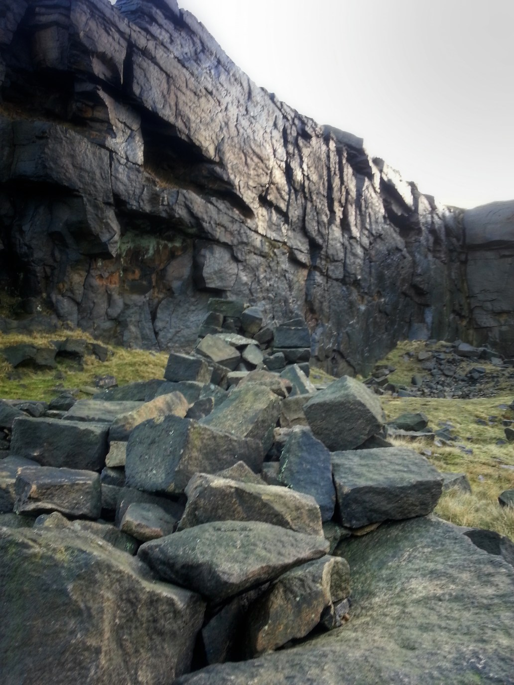 Pule Hill Quarry on Poetry Trail Marsden
