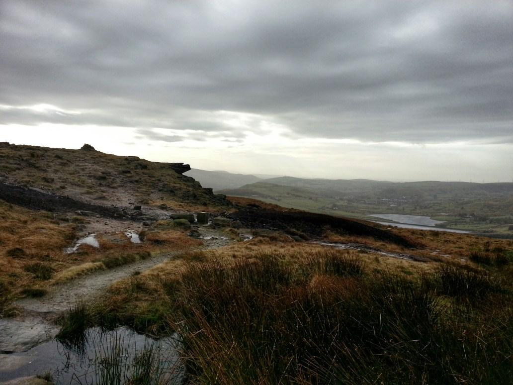 Oldham Way Pennine Way cairn castleshaw Poetry Trail Marsden