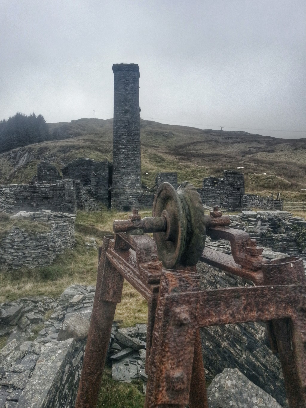Rhiwbach quarry engine house Cwm penmachno Hike