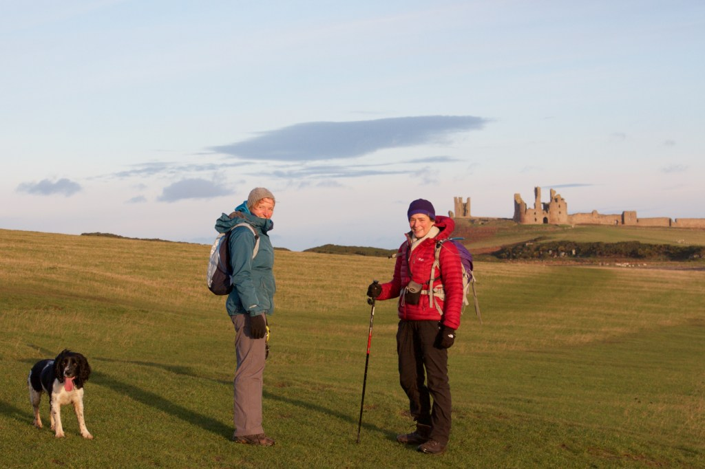 northumberland coastal path Dunstanburgh Castle