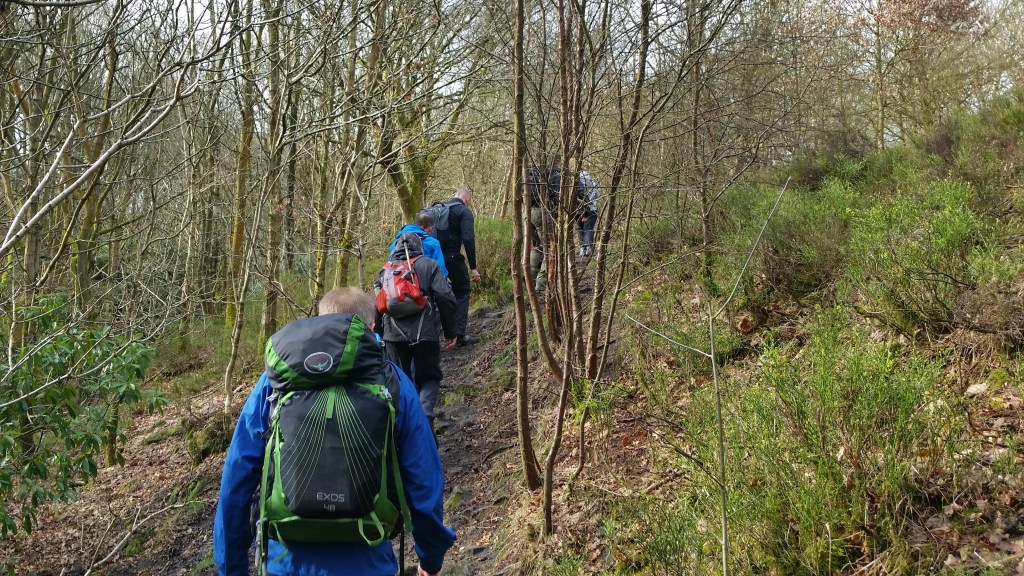 Freshwalks Gnathole wood Glossop to Kinder downfall walk hike dark peak woodland