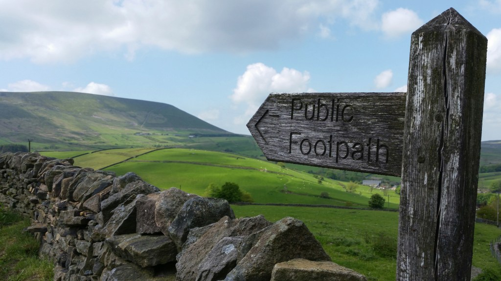 Pendle Hill footpath near Barley