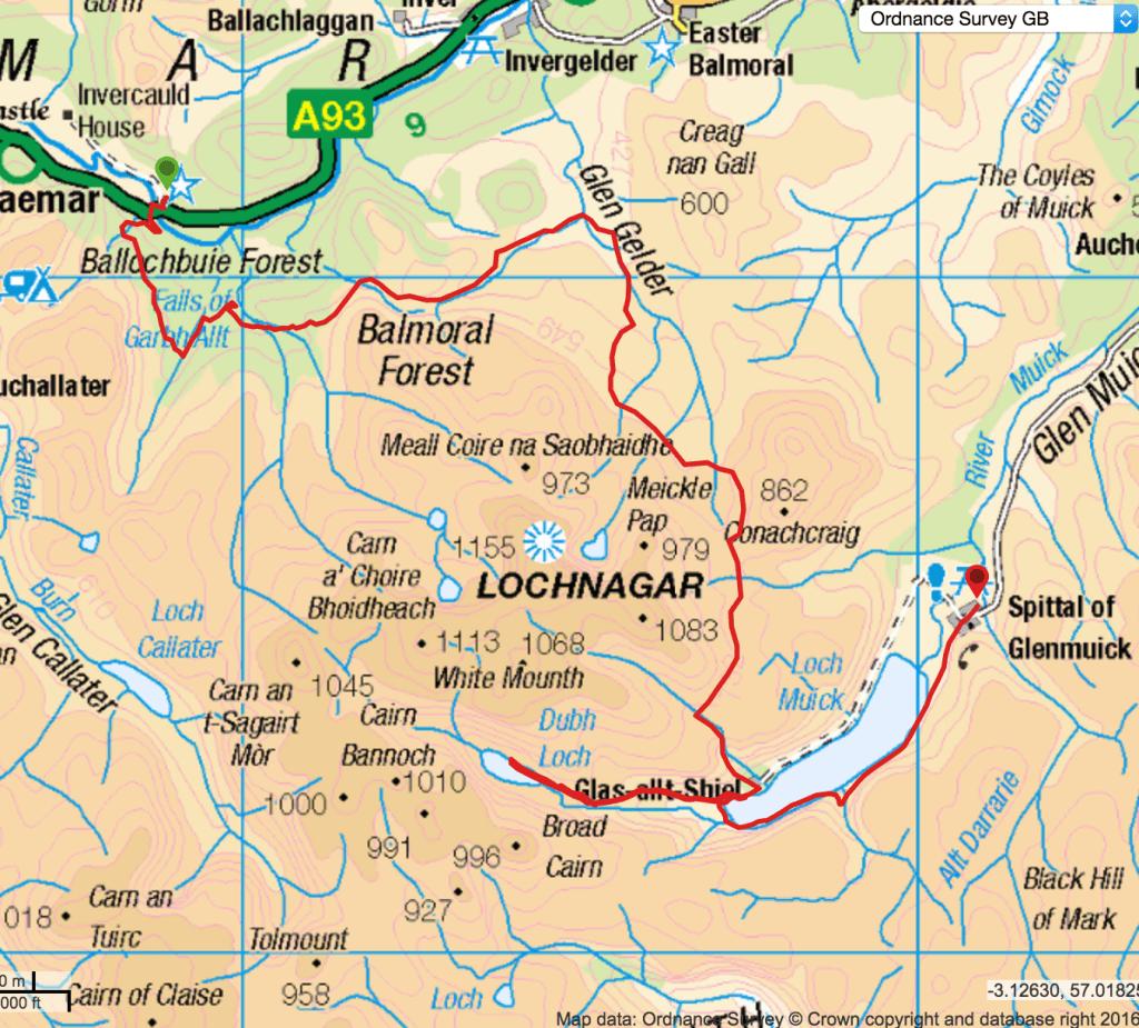 Balmoral Estate Lochnagar trek