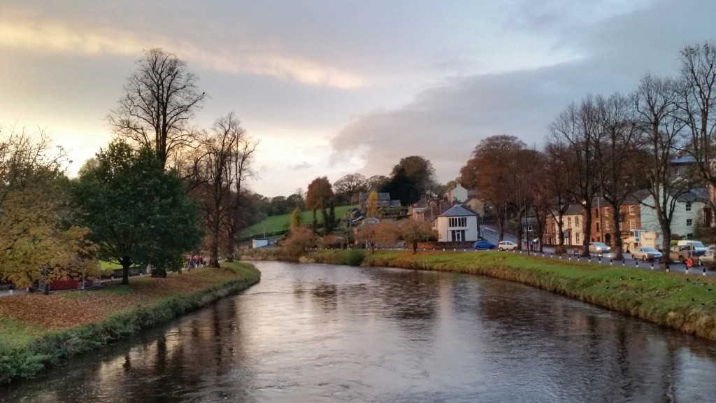 Appleby and River Eden at sunset