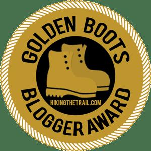 Golden Boots Blogger Award logo