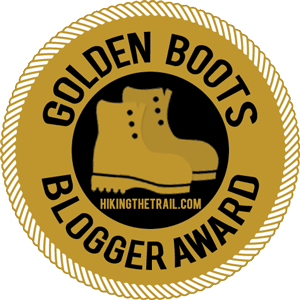 Golden Boots Blogger Award logo