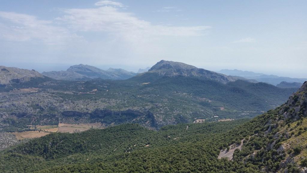 GR221 Mallorca Stone Way Lluc view in the Tramuntana mountains