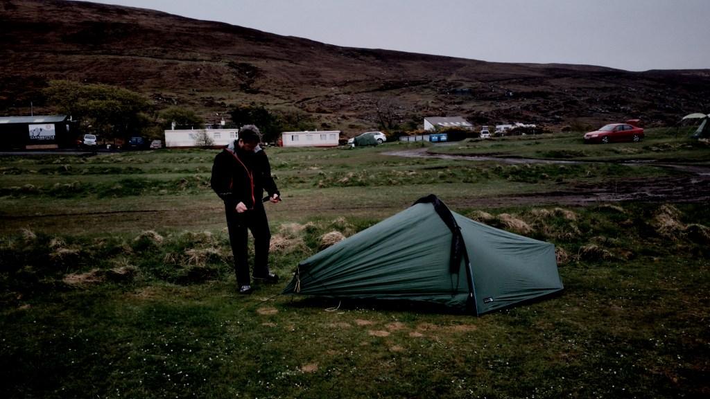 Skye Glen Brittle Hike campsite