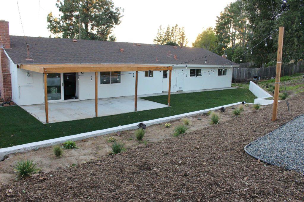 a modern backyard makeover halfway