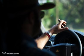 Nestor Andrés Plasencia drives to Jalapa while smoking a cigar blended specifically for his father.